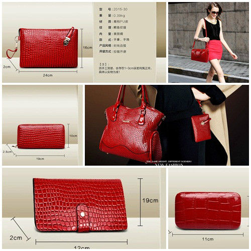 B2022(6IN1,WITH MANICURE KIT) IDR.295.000 MATERIAL PU SIZE BIG L34XH28 MEDIUM L28XH21CM WEIGHT 1700GR COLOR RED