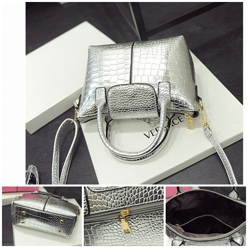 B2083 IDR.168.000 MATERIAL PU SIZE L20-26XH17XW10CM WEIGHT 700GR COLOR SILVER