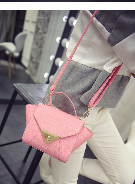 B2099 IDR.155.000 MATERIAL PU SIZE L17-27XH16XW12CM WEIGHT 600GR COLOR PINK