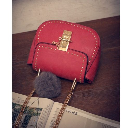 B2101 IDR.155.000 MATERIAL PU SIZE L17XH15XW7CM WEIGHT 550GR COLOR RED
