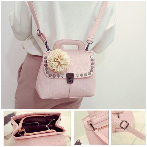 B2132 - Harga sebelum Diskon IDR.180.000 MATERIAL PU SIZE L24XH20XW12CM WEIGHT 700GR COLOR PINK
