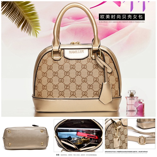 B2139 IDR.182.000 MATERIAL PU SIZE L23XH19XW11CM WEIGHT 750GR COLOR GOLD