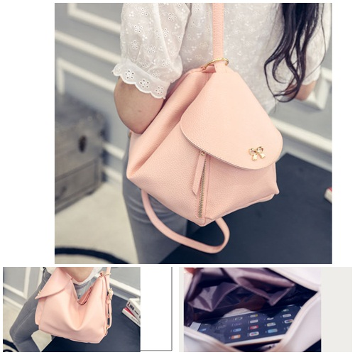 B2205 IDR.168.000 MATERIAL PU SIZE L22XH21XW15CM WEIGHT 650GR COLOR PINK