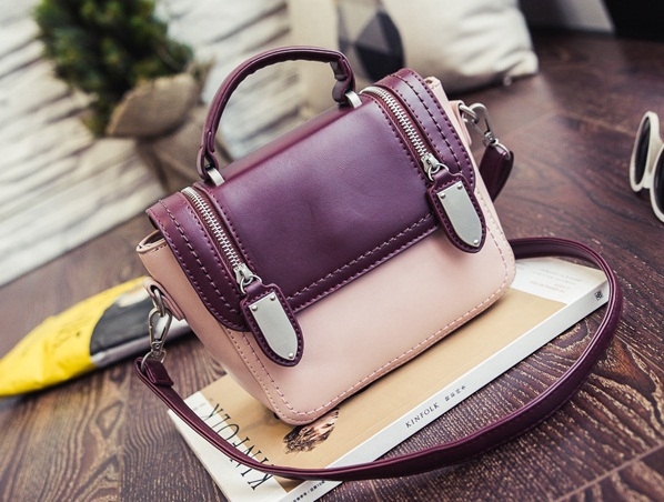 B2301 IDR.173.000 MATERIAL PU SIZE L19XH16XW9CM WEIGHT 600GR COLOR PURPLE