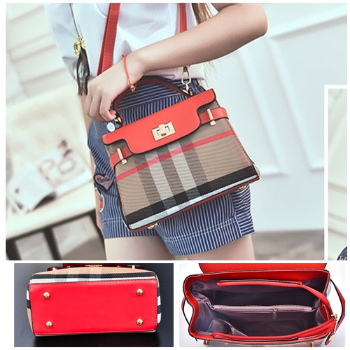 B2319 IDR.173.000 MATERIAL CANVAS SIZE L22XH27XW11CM WEIGHT 600GR COLOR RED