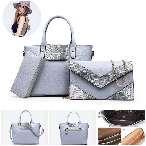 B2415-(3in1) IDR.222.000 MATERIAL PU SIZE L27XH22XW13CM WEIGHT 1400GR COLOR GRAY