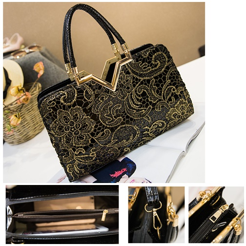 B2420 IDR.172.000 MATERIAL PU SIZE L32XH21XW9CM WEIGHT 750GR COLOR GOLD