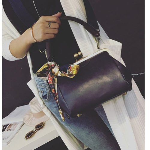 B2487 MATERIAL PU SIZE L19XH16XW10CM WEIGHT 550GR COLOR BLACK