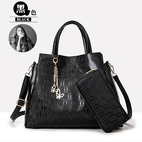 B2687-(2in1) IDR.199.000 MATERIAL PU SIZE L34X28X12CM WEIGHT 1200GR COLOR BLACK
