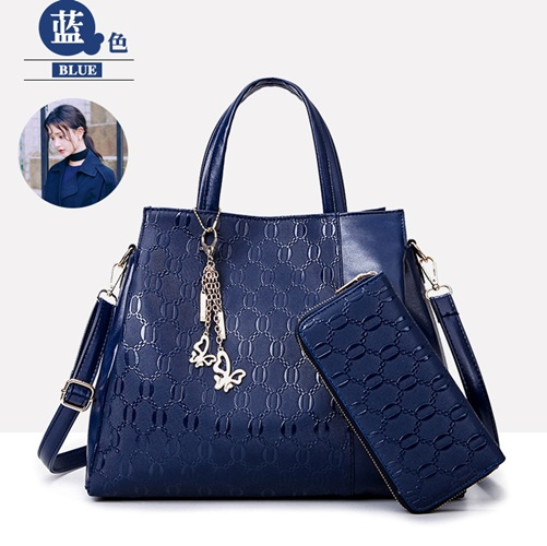 B2687-(2in1) IDR.199.000 MATERIAL PU SIZE L34X28X12CM WEIGHT 1200GR COLOR BLUE