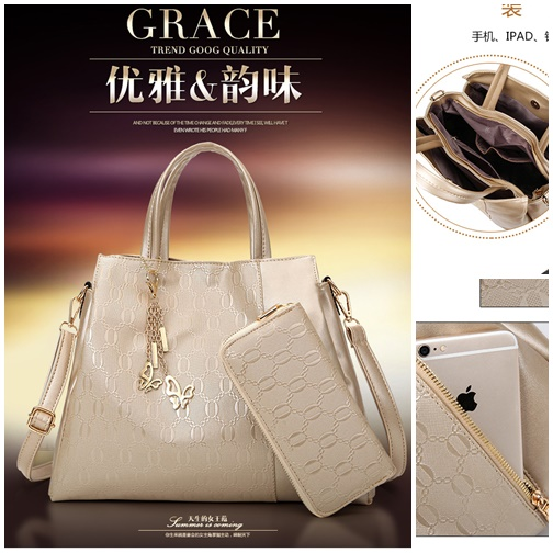 B2687-(2in1) IDR.199.000 MATERIAL PU SIZE L34X28X12CM WEIGHT 1200GR COLOR GOLD