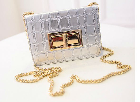 B2707 IDR.150.000 MATERIAL PU SIZE L17XH12XW5CM WEIGHT 450GR COLOR SILVER