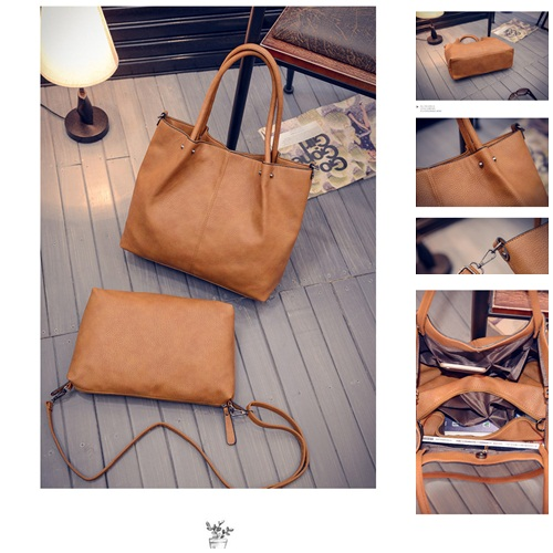 B27128-(2in1) IDR.195.000 MATERIAL PU SIZE L36XH31XW12CM WEIGHT 1000GR COLOR BROWN
