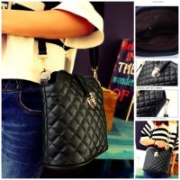 B2728 MATERIAL PU SIZE L21XH23XW10CM WEIGHT 400GR COLOR BLACK