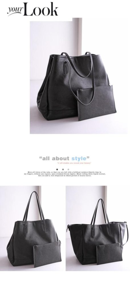 B2732-(2in1) IDR.182.000 MATERIAL PU SIZE L35XH32X20CM WEIGHT 1100GR COLOR BLACK