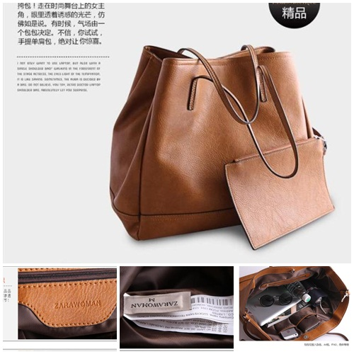 B2732(2in1) IDR.182.000 MATERIAL PU SIZE L35XH32X20CM WEIGHT 1100GR COLOR BROWN