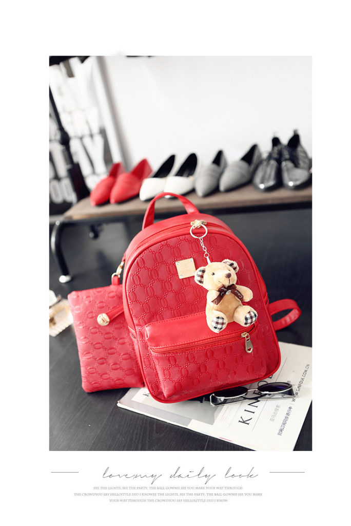 B27580 (2in1) IDR.162.000 MATERIAL PU SIZE L24XH31XW12CM WEIGHT 800GR COLOR RED