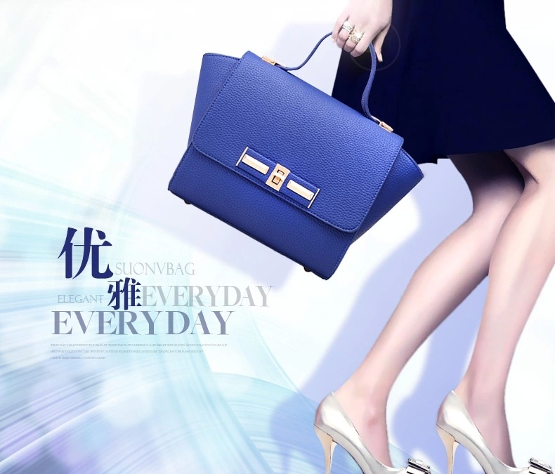 B2786 IDR.155.000 MATERIAL PU SIZE L22XH19XW13CM WEIGHT 600GR COLOR BLUE