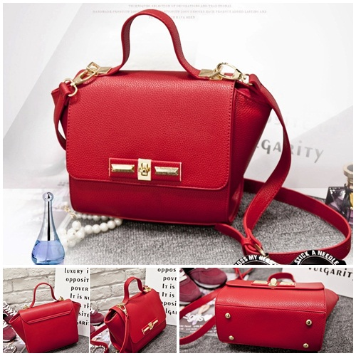B2786 IDR.155.000 TAS FASHION MATERIAL PU SIZE L22XH19XW13CM WEIGHT 600GR COLOR RED