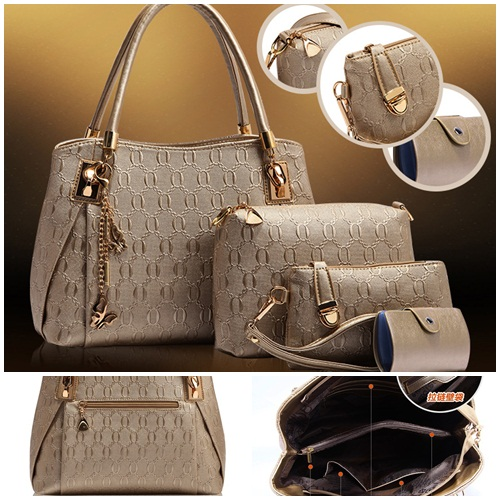 B2798-(4in1) IDR.190.000 MATERIAL PU SIZE L32XH22XW14CM WEIGHT 1300GR COLOR GOLD