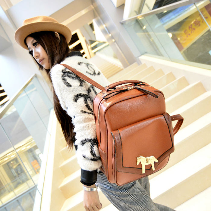 B3028 IDR.201.000 MATERIAL PU SIZE L35XH26XW9CM WEIGHT 900GR COLOR BROWN