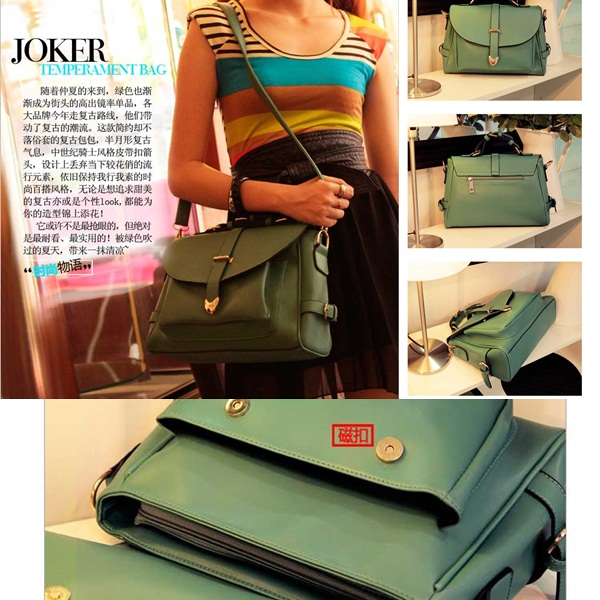 B306 IDR.170.000 MATERIAL PU SIZE L33XH23XW9CM,STRAP120CM WEIGHT 850GR COLOR GREEN
