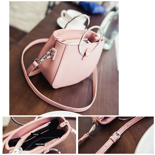 B3531 IDR.149.000 MATERIAL PU SIZE L16XH15XW8CM WEIGHT 500GR COLOR PINK