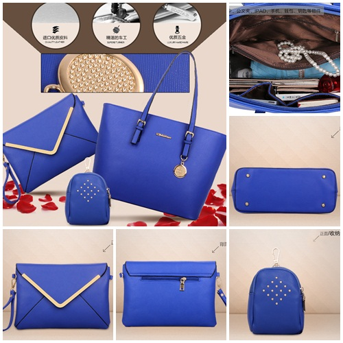 B366(3in1) IDR.225.000 MATERIAL PU SIZE L33-41XH27XW14CM WEIGHT 1000GR COLOR BLUE