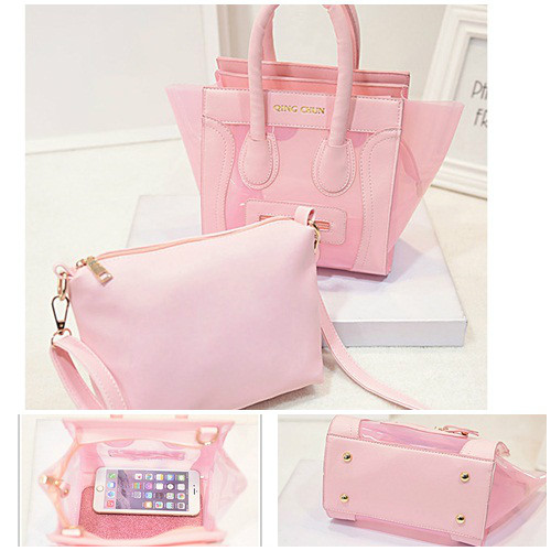 B399(2in1) IDR.186.000 MATERIAL PU+COMPOSITE SIZE L20XH19XW14CM WEIGHT 700GR COLOR PINK