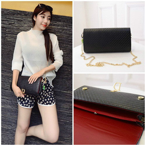 B433 IDR.180.000 MATERIAL PU SIZE L28XH16XW3CM WEIGHT 600GR COLOR BLACK