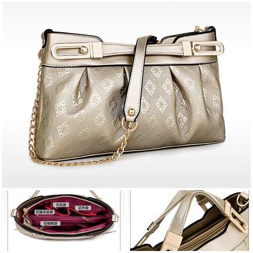 B461 IDR.205.000 MATERIAL PU SIZE L33XH19XW8CM WEIGHT 600GR COLOR GOLD