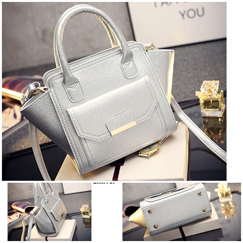 B469 IDR.169.000 MATERIAL PU SIZE L20XH20XW8CM WEIGHT 700GR COLOR SILVER