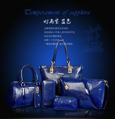 B558-(6in1) IDR.235.000 MATERIAL PU SIZE L30XH30XW13,L27XH18XW13CM WEIGHT 1400GR COLOR BLUE