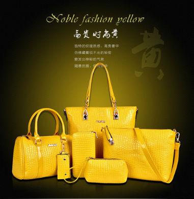 B558-(6in1) IDR.235.000 MATERIAL PU SIZE L30XH30XW13,L27XH18XW13CM WEIGHT 1400GR COLOR YELLOW