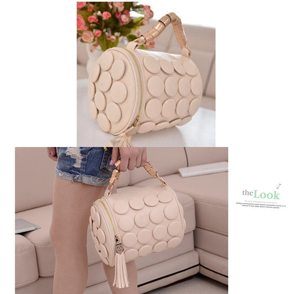 B591 IDR.162.000 MATERIAL PU SIZE L20XH18CM WEIGHT 650GR COLOR BEIGE