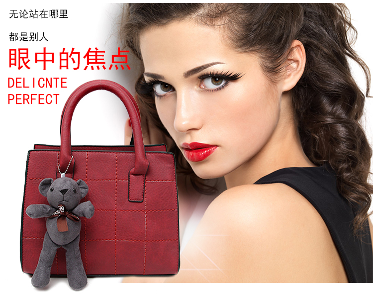 B597 IDR.172.000 TAS FASHION MATERIAL PU SIZE L32XH28XW14CM WEIGHT 780GR COLOR RED