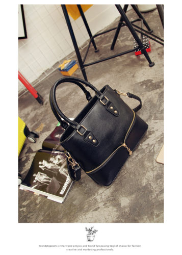 B598 IDR.186.000 TAS FASHION MATERIAL PU SIZE L29XH23XW12CM WEIGHT 750GR COLOR BLACK