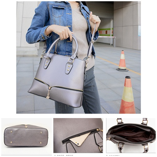 B598 IDR.186.000 TAS FASHION MATERIAL PU SIZE L29XH23XW12CM WEIGHT 750GR COLOR GRAY