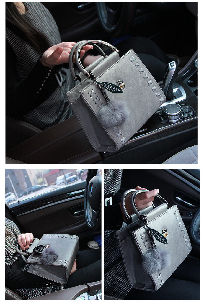 B638 IDR.186.000 TAS FASHION MATERIAL PU SIZE L23XH18XW10CM WEIGHT 750GR COLOR GRAY