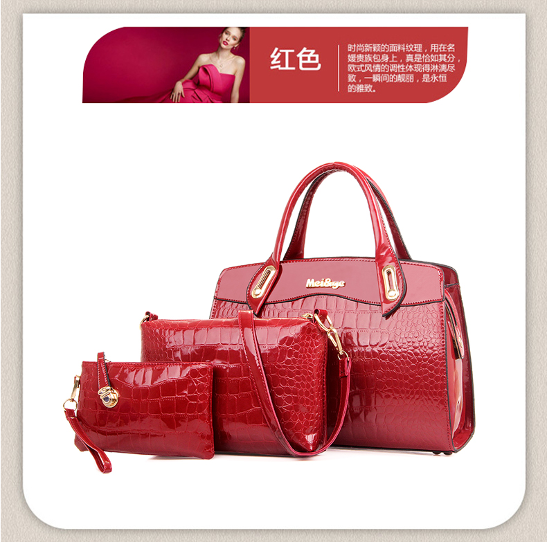B687-(3in1) IDR.220.000 MATERIAL PU SIZE L33XH23XW12CM WEIGHT 1300GR COLOR RED