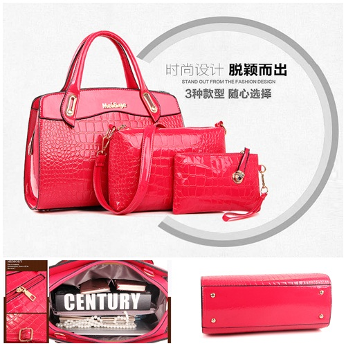 B687-(3in1) IDR.220.000 MATERIAL PU SIZE L33XH23XW12CM WEIGHT 1300GR COLOR ROSE
