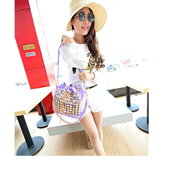 B742 IDR.182.000 MATERIAL PU SIZE L26XH27XW15CM WEIGHT 800GR COLOR PURPLE