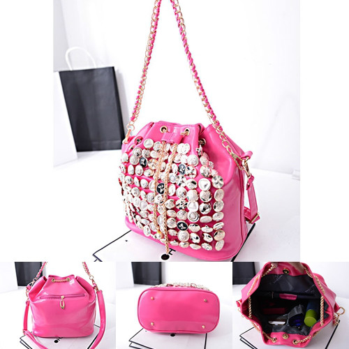 B742 IDR.182.000 MATERIAL PU SIZE L26XH27XW15CM WEIGHT 800GR COLOR ROSE