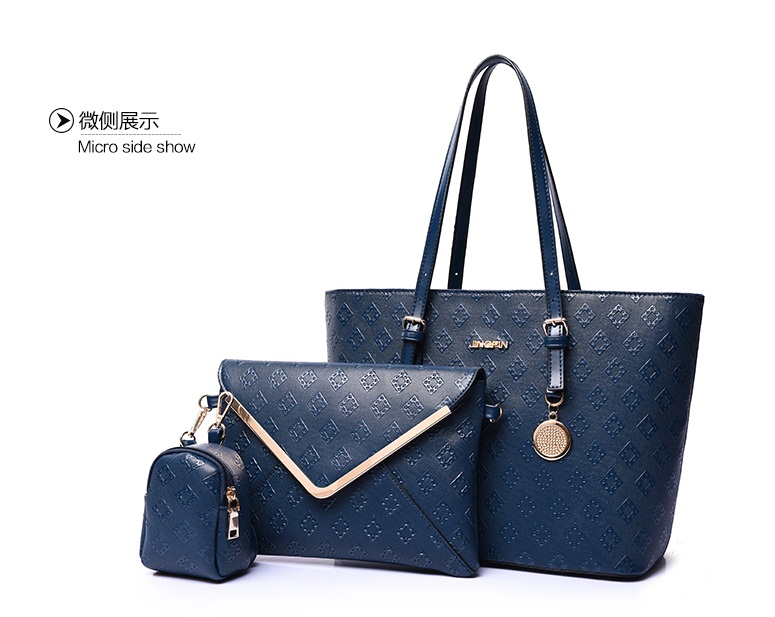 B7776-(3in1) IDR.215.000 TAS FASHION MATERIAL PU SIZE L33XH26XW15CM WEIGHT 1100GR COLOR BLUE