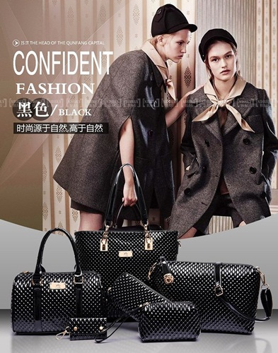 B7779-(6in1) IDR.225.000 MATERIAL PU SIZE L30XH29XW21CM WEIGHT 1350GR COLOR BLACK