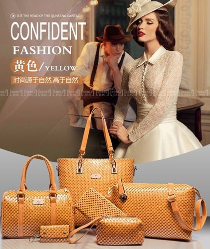B7779 (6in1) - Harga Katalog / Sebelum Diskon Rp. 225.000 MATERIAL PU SIZE L30XH29XW21CM WEIGHT 1350GR COLOR YELLOW