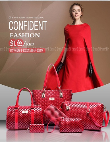 B7779-(6in1) IDR.225.000 MATERIAL PU SIZE L30XH29XW21CM WEIGHT 1400GR COLOR RED