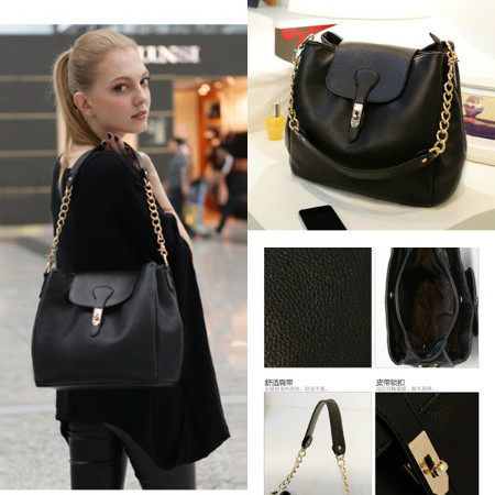 B8169 IDR.182.000 MATERIAL PU SIZE L25XH21X17CM, HAND STRAP 17CM WEIGHT 750GR COLOR BLACK