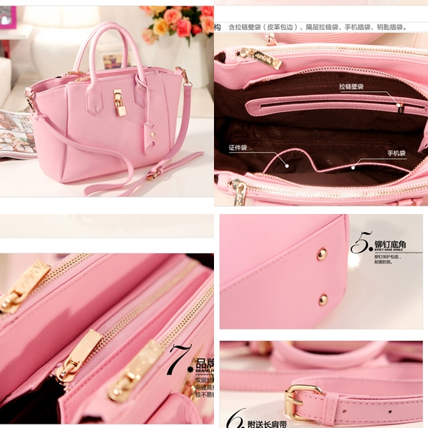 B8239 IDR.175.000 TAS FASHION MATERIAL PU SIZE L29XH23XW10CM WEIGHT 610GR COLOR PINK