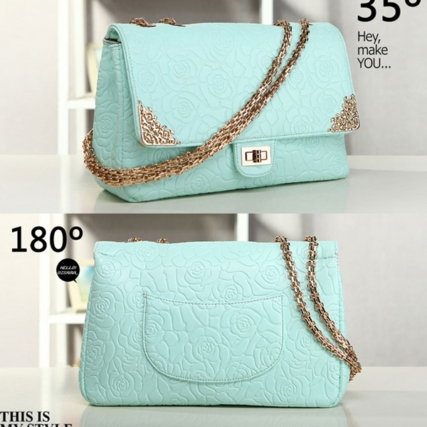 B8240 IDR.235.000 MATERIAL PU SIZE L31XH20XW10CM, STRAP 110CM WEIGHT 940GR COLOR BLUE